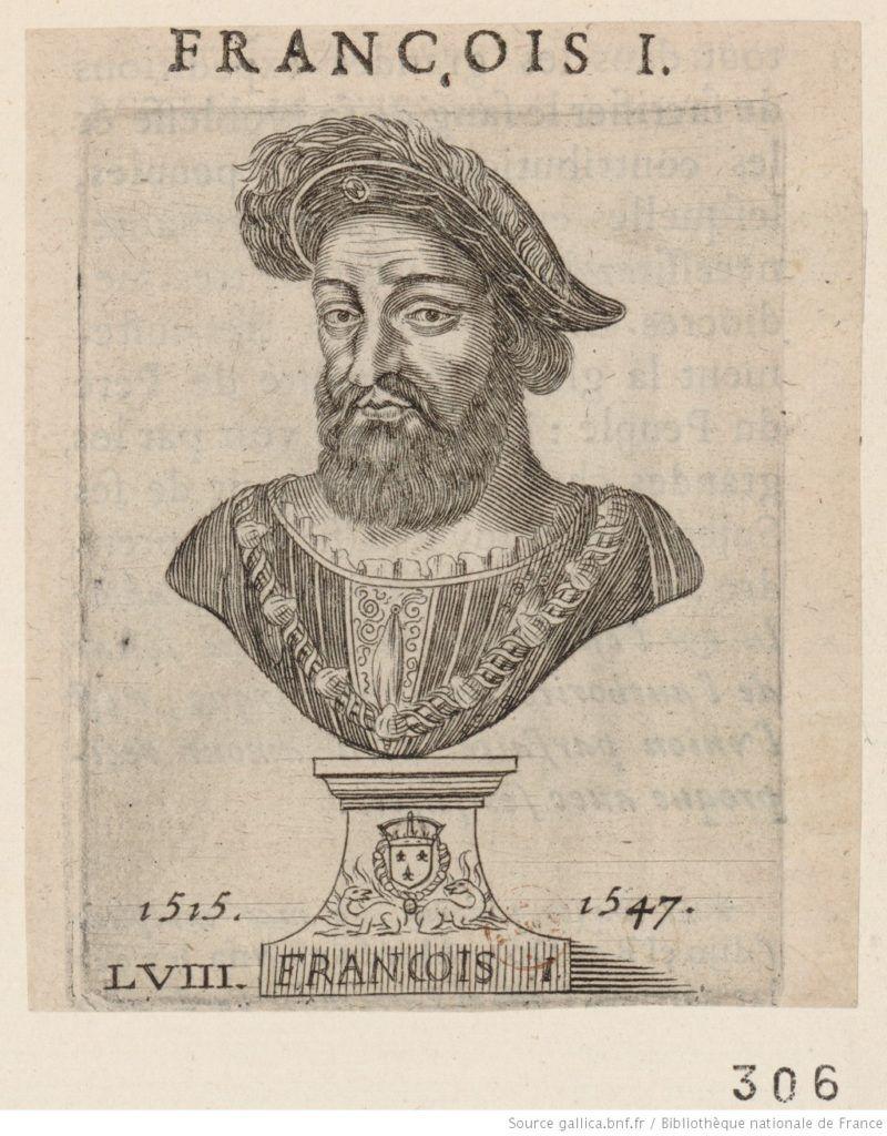 Portrait de François Ier estampe bnf